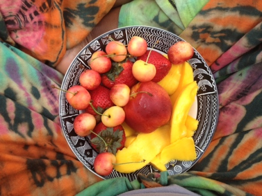 We are just like this fruit salad. All our differences make our coming together so beautiful! Namaste beloveds!