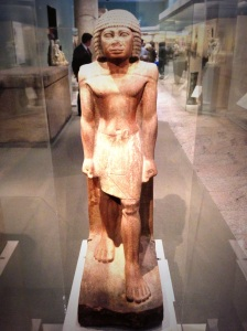 """Standing Man"" probably from a tomb at the site of El Kab (ca. 2575-2465 B.C.) ."