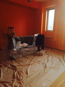 Matt Fox and crew did an excellent job painting the rooms a very difficult, vibrant color.