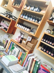 They also sell essential oils and interesting books. I bought my brother one on foraging.